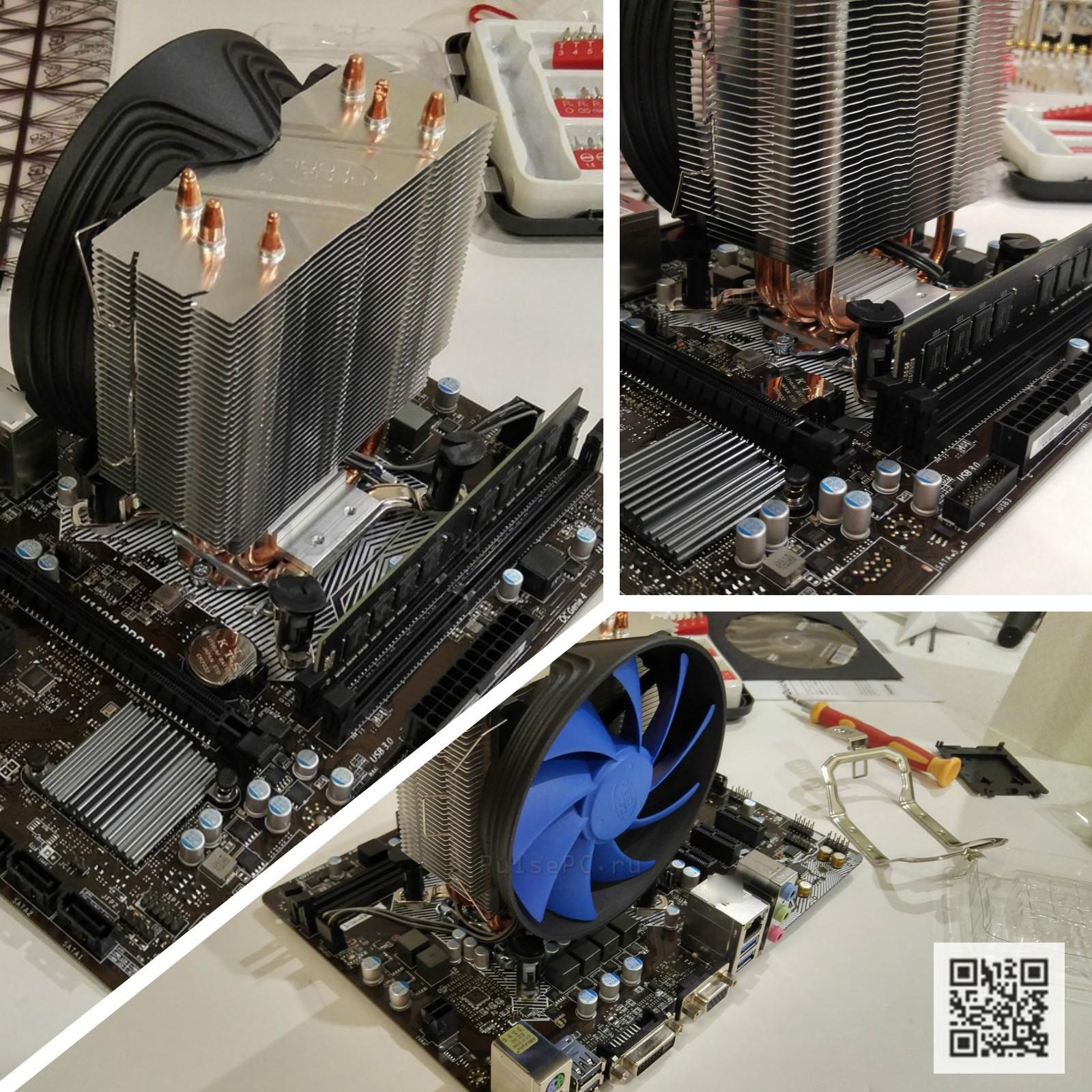 Кулер Deepcool Gammaxx 300 неправильная установка