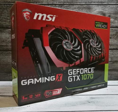 Видеокарта MSI Gaming X 8G nVidia GeForce GTX-1070
