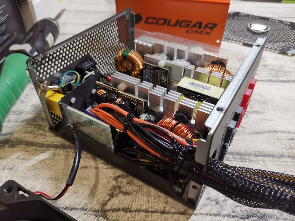 Разобранный блок питания COUGAR CMX850  без крышки