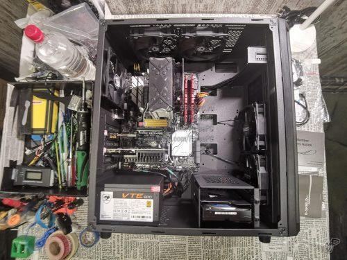 Компьютер собран. Делаю фото сверху